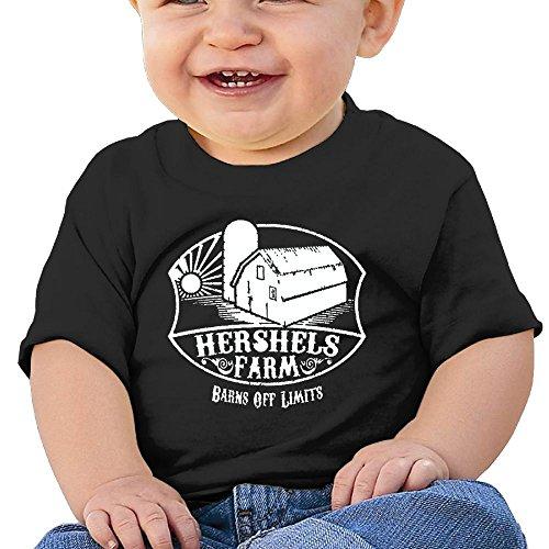 Price comparison product image Oswjswj Baby HERSHELS Farm - Dead Zombie Funny Walking Unisex Infants Crew Neck Short Sleeve Tee 24 Months Black