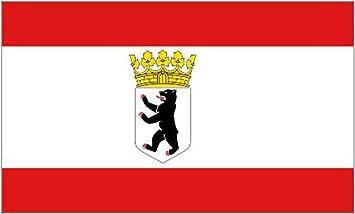 Bandera de Berlín (Alemania), 1,5 x 0,9 m: Amazon.es: Deportes y ...