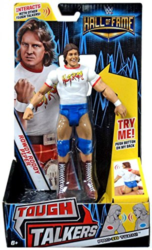 Mattel WWE Hall of Fame 6 Tough Talkers Hot Rod Rowdy Roddy Piper -