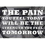 107 inspiration Empire Poster Texte la douleur you feel today la force sera you feel tomorrow SPORTS), boxe, vélo, athlétisme, body-building, TRIATHLON, BASKETBALL, FOOTBALL, la natation, le RUGBY, boxe, ARTS martiaux