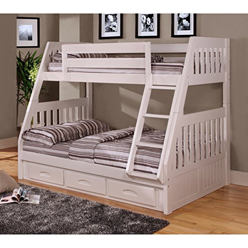 American Furniture Classics Twin over Full Bunk Bed with 3 d