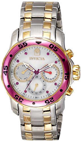 Invicta Pro Diver Multi-Function Mother of Pearl Dial Two-tone Ladies Watch 14943