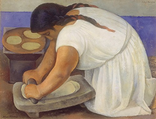 Berkin Arts Diego Rivera Giclee Canvas Print Paintings Poster Reproduction (The Grinder)