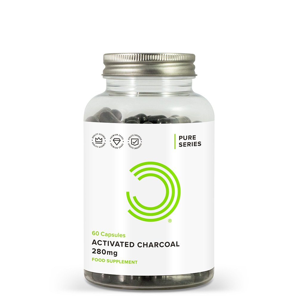Activated Charcoal 280mg, 60 Capsules - Coconut Derived - Detox Cleanser and Digestive Support by BULK POWDERS