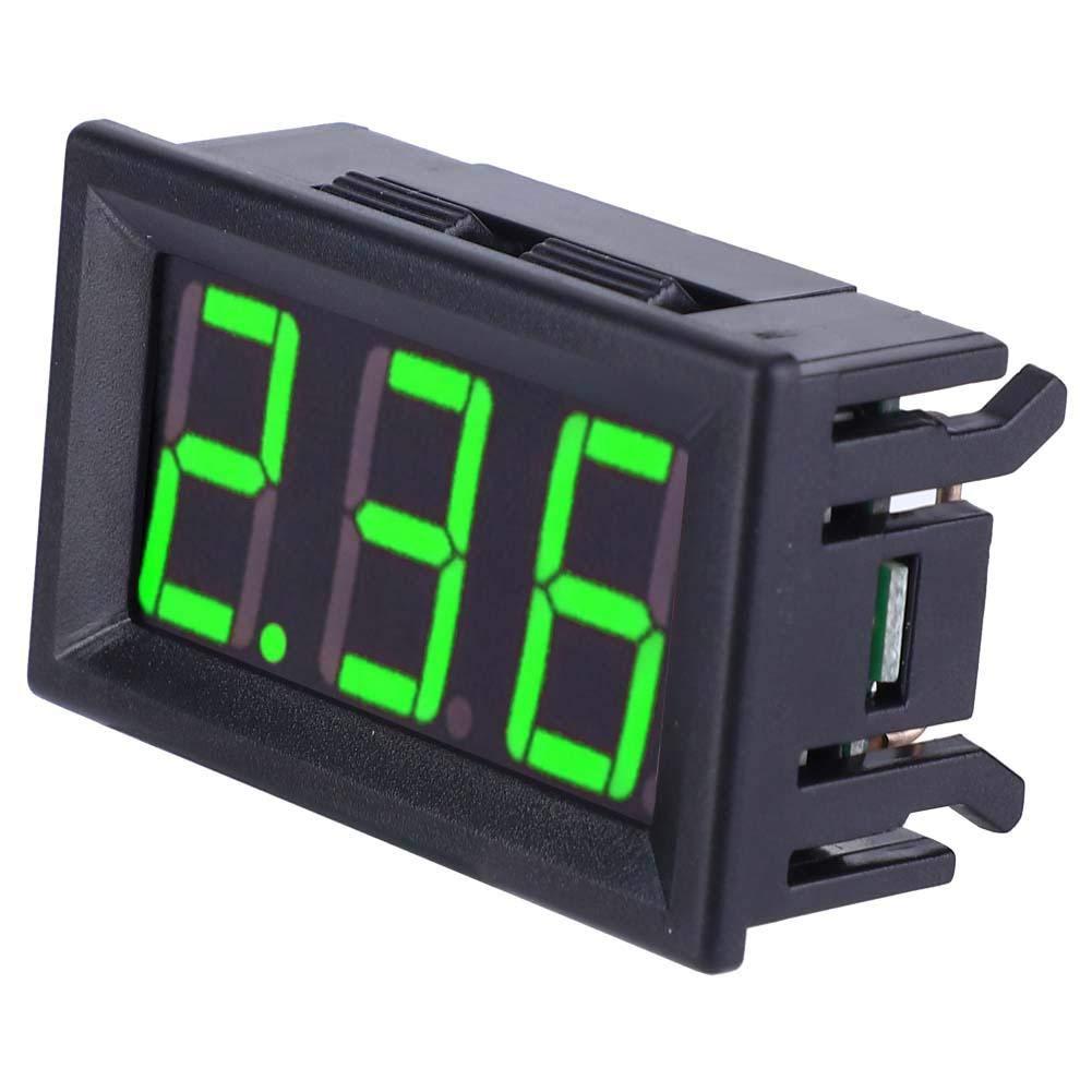 Digital Ammeter 0.56-Inch LED Display Ammeter Amp Testing Meter DC Current Measurement Panel 3-Digit Amp Gauge 0-10A Green