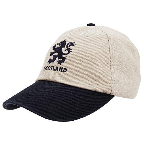 (Scotland Baseball Cap with adjustable strap (Adjustable) (Cream))