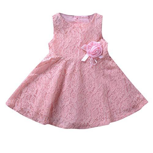 Girl Baby Princess Ruffles Lace Bowknot Sleevesless Communion Party Baptism Anniversary Gift -