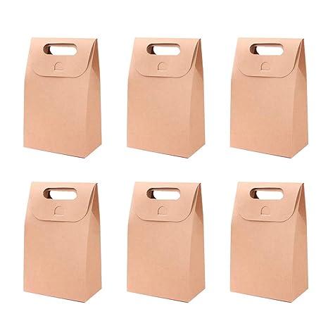 Toyvian Bolsas de papel para manualidades portátiles Caja de ...