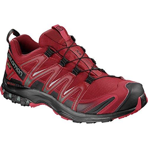 Salomon XA PRO 3D GTX, Scarpe da Trail Running Uomo Rosso (Red Dahlia/Black/Barbados Cherry Red Dahlia/Black/Barbados Cherry)