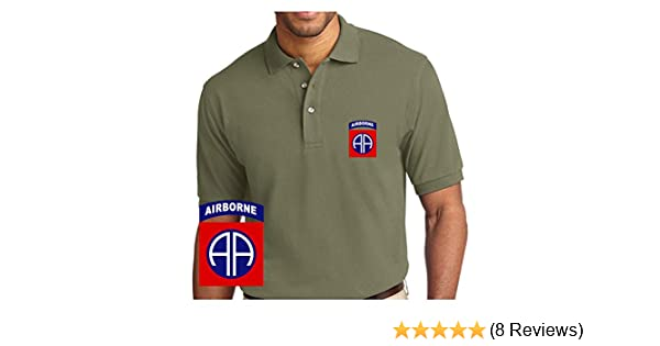 Com Army 82nd Airborne Division Embroidered Polo Shirt at Amazon Men s  Clothing store  b0a9ebfc7