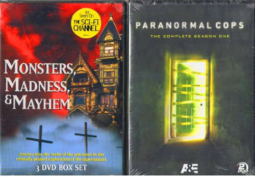 Monsters, Madness & Mayhem : The Sci-Fi Channel 3 Disc Box Set : The Devil , Witches , Creatures , Superstitions , The History Of Halloween , Paranormal Cops Complete Season One 2 disc Set : Combined Total 5 Discs - 492 Minutes