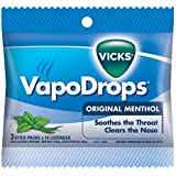 Vicks VapoDrops Original Menthol Cough Lozenges 30 Pack