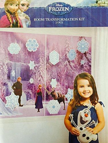 Disney Frozen Huge Room Transformation Kit 25pcs Everything You (Disney Frozen Crepe Paper)
