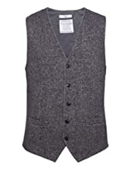 Circolo 1901 Men's Cotton Tweed Effect Waistcoat Brown