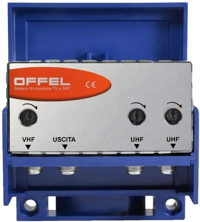Amplificador antena TV entrada VHF-UHF-UHF de palo 30dB ...