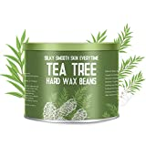 Hair Removal Without Wax - 【Tea Tree Essential Oil】Yeelen Essential Oil Hard Wax Beans Hair Removal Wax Beads with 10 Applicator Sticks for Facial Body Brazilian Bikini At Home Waxing, 10.58oz/300g