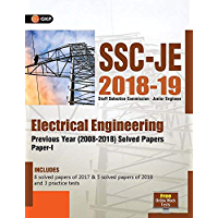 SSC JE Paper I (CPWD/CWC/MES) Electrical Engineering - Previous Years Solved Papers (2008-18)