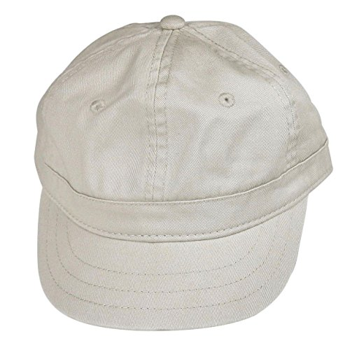 Short Bill Trucker Cap - Women's Cotton Twill Cap, Short Bill Trucker/Baseball Style Hat - Stone, One Size Fits All.