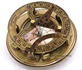 Roorkee Instruments India Sundial Directional Compass with Leather Case-Gift for Him