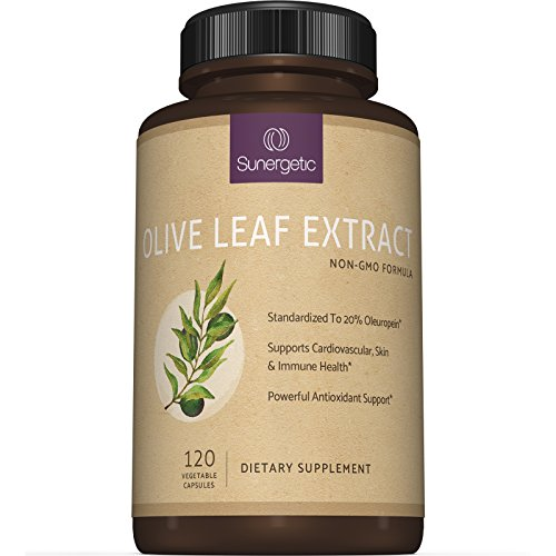 Best Olive Leaf Extract Capsules  Standardized To 20% Oleuropein  Super Strength Olive Leaf Exact Supplement Supports Immune, Skin & Cardiovascular Health  750mg Per Capsule  120 Capsules