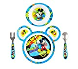 kids mickey mouse dishes - The First Years Mickey Mouse 4 Piece Feeding Set