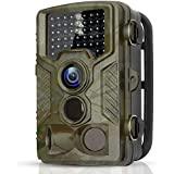 BYbrutek Trail Camera, 16MP 1080P Full HD Deer Hunting Game Camera, 0.2S Motion Activated Wildlife Camera with 46 PCS 850nm IR LEDs Night Vision up to 65ft, 2.4 LCD Display, IP56 Waterproof (H881)