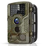 BYbrutek Trail Camera, 16MP 1080P Full HD Deer Hunting Game Camera, 0.2S Motion Activated Wildlife Camera with 46 PCS 850nm IR LEDs Night Vision up to 65ft, 2.4'' LCD Display, IP56 Waterproof (H881)