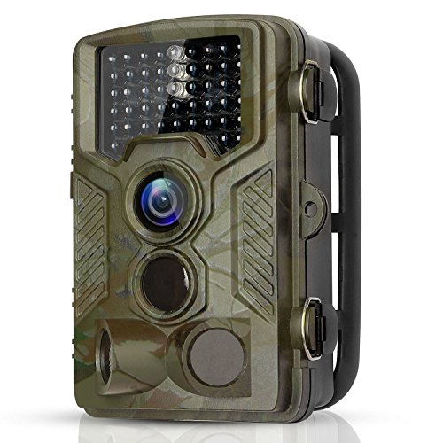 BYbrutek Trail Camera, 16MP 1080P Full HD Deer Hunting Game Camera, 0.2S Motion Activated Wildlife Camera with 46 PCS 850nm IR LEDs Night Vision up to 65ft, 2.4″ LCD Display, IP56 Waterproof (H881)