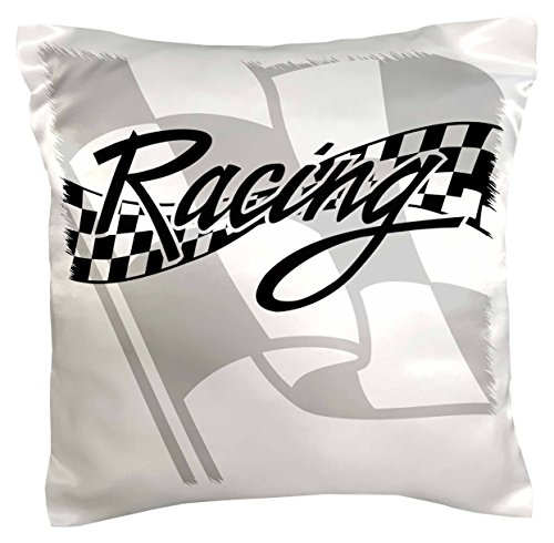 Checkered Pillow (3dRose pc_99325_1 Racing Black and White Checkered Flag-Pillow Case, 16 by 16