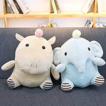 Amazon.com: EXTOY - Cojín de peluche con forma de elefante ...