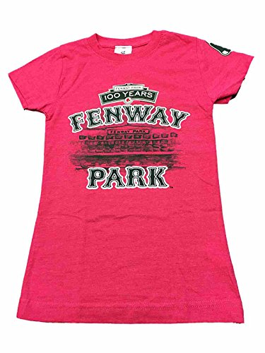 Boston Red Sox SAAG Youth Girls Pink Fenway Park 100 Years T-Shirt (L)