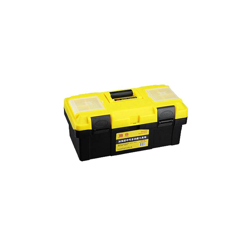 ツールボックス【幅約64.5×奥行30×高さ12.5約14センチ】 (Color : Yellow black, Size : 17 inches) B07F1XPH35Yellow black 17 inches