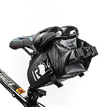 VertAst Bicycle Under Seat Bike Bag MTB CTB Waterproof Saddle Pouch, Black