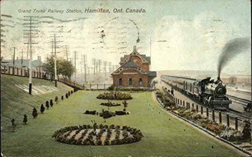 grand-trunk-railway-station-hamilton-ontario-canada-original-vintage-postcard