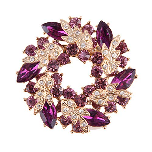 seven wolves Flower Brooch Exquisite Corsage Breastpin Jewelry Costume Accessories Gift for Women, Purple ()