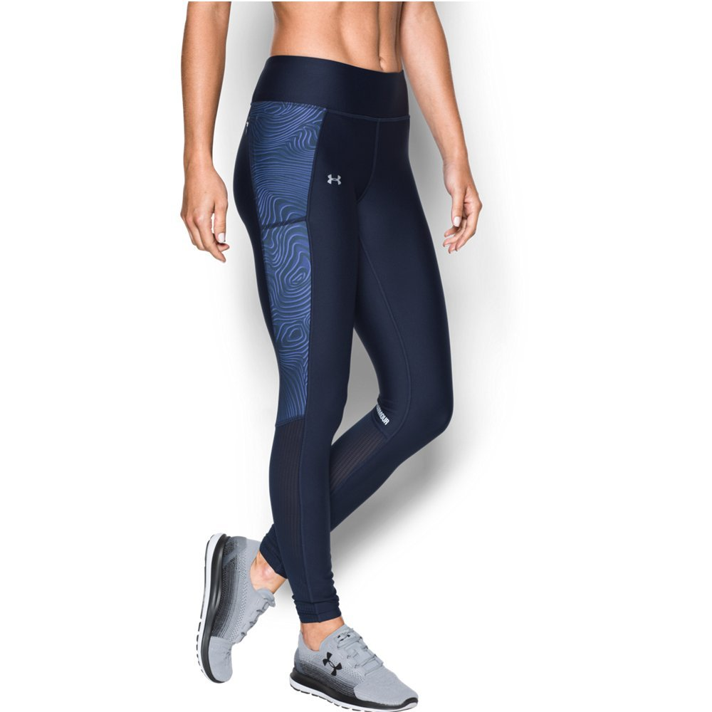 Under Armour Women's Fly-By Printed Legging,Midnight Navy /Reflective, X-Small by Under Armour