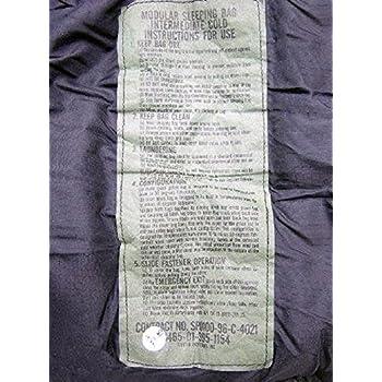 US Military MSS Black Intermediate Cold Weather Mummy Sleeping Bag