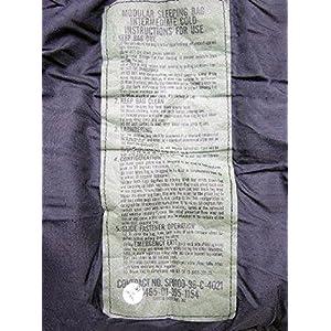 Tennier Industries US Military MSS Black Intermediate Cold Weather Mummy Sleeping Bag