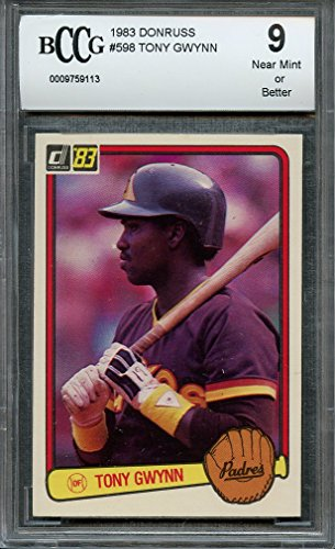 - 1983 donruss #598 TONY GWYNN san diego padres rookie (CENTERED) BGS BCCG 9 Graded Card