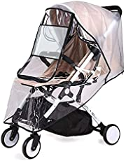 HomeChi Stroller Rain Cover, Universal Size Stroller Weather Shield Waterproof Windproof Dust Resistant Durable Protection Travel-Friendly with Eye Screen Stroller Cover Accessory Outdoor Use