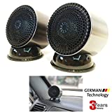 2-Inch Tweeter / 2'' Full Range Speaker by Omni Beyond, Titanium Dome Neodymium Magnet German Tech Speaker, Easy D.I.Y Installation, No Amp No Tuning Required, Crossover Circuit Included [2-PACK]