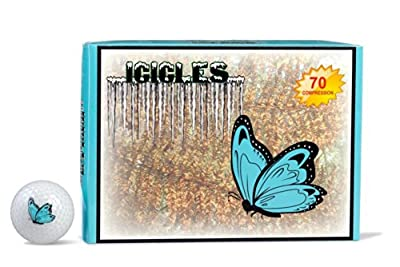 ICICLES Women's V Golf Butterfly Logo Ball, White