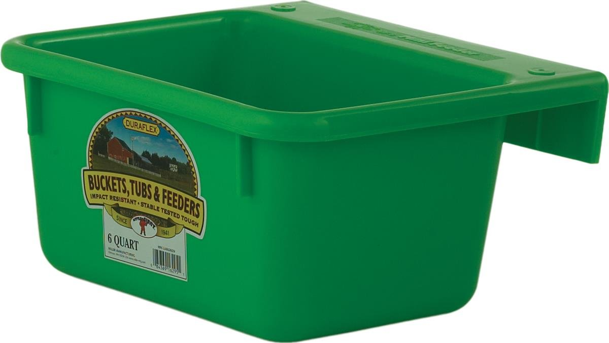 Little Giant 6-Quart Dura-Flex Plastic Feeder, Mini, Green Miller Manufacturing MF6GREEN