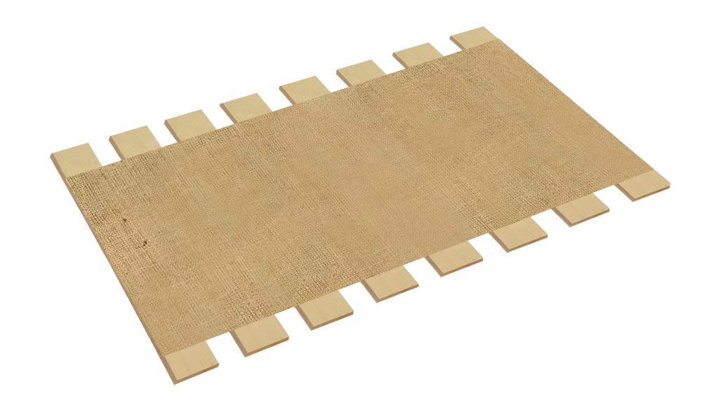 The Furniture Cove Full Size Bed Slats Boards Wood Foundation Jute Burlap Fabric-Help Support Your Box Spring Mattress-Made in the U.S.A.! (55.75'' Wide) by The Furniture Cove