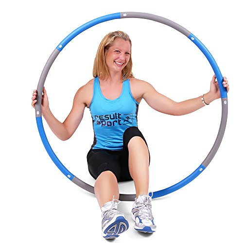 ResultSport The Original Foam Padded Level 3 Weighted 2.0kg (4.4lb) Fitness Exercise Hula Hoop 100cm wide