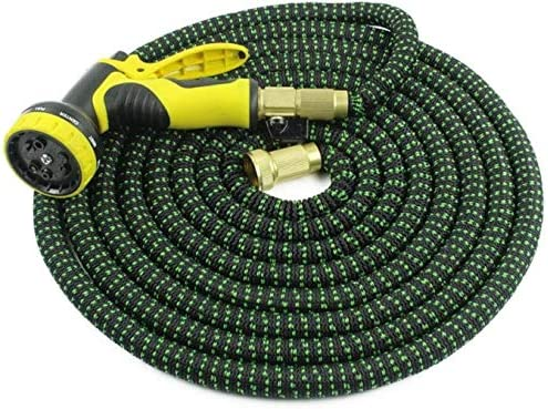 DXYAN Expandable Magic Hose, Upgraded Leak Proof Lightweight Expandable Garden Water Hose with 3/4'' Solid Brass Connectors with 9 Pattern Spray Hose Nozzle(25ft-100ft),100ft