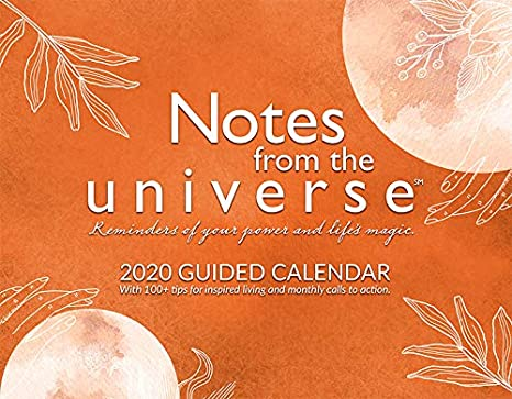 Coin Show Calendar 2020.Notes From The Universe 2020 Guided Wall Calendar By Mike Dooley