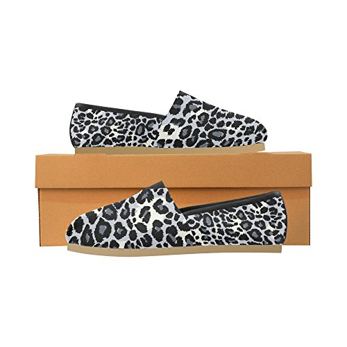 Casual Men pirate a Women InterestPrint Leopard Pattern wearing for Shoes hat dog Loafers gray w0pqfZ