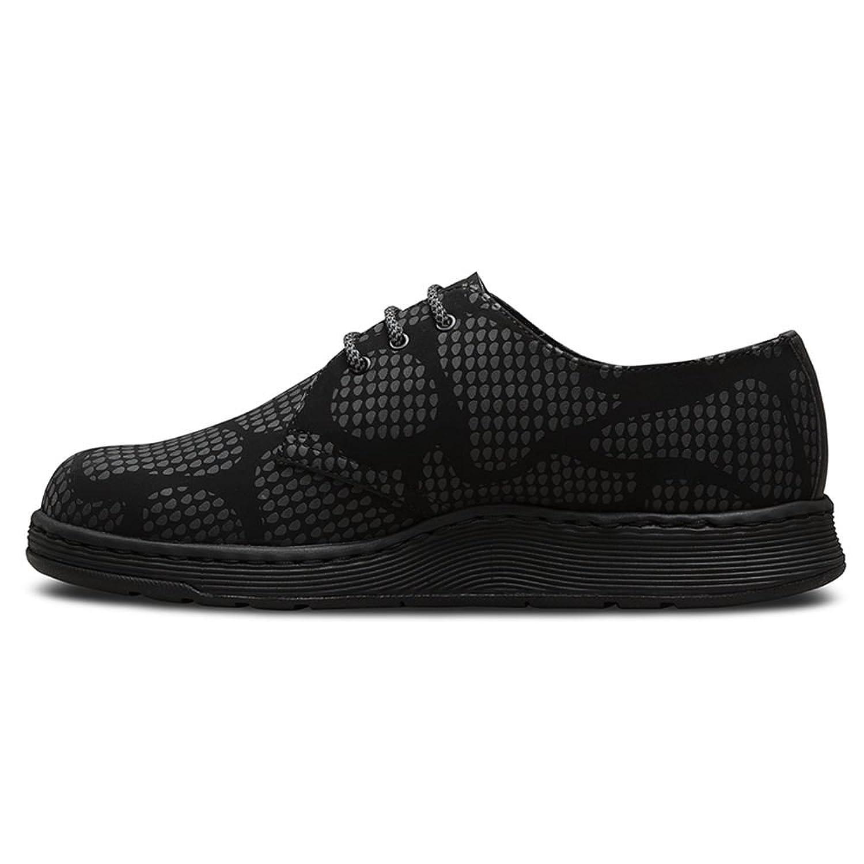 Dr.Martens Cavendish 3 Eyelet Reflective Snake Black Womens Shoes Size 3 UK zHOTfvTeR