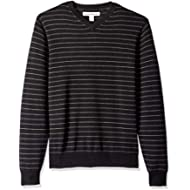 Amazon Essentials Men's Standard V-Neck Stripe Sweater